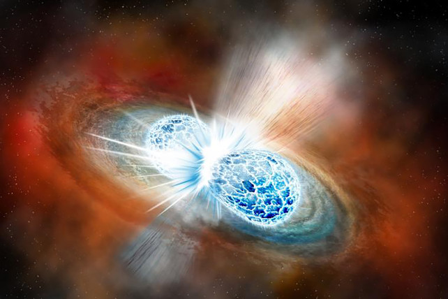 Scientists detect gravitational waves from massive, violent star collision | New York Post